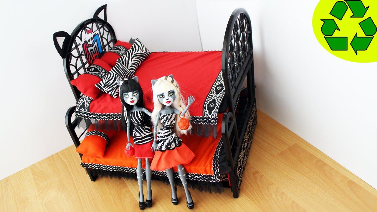 Manualidades para mu ecas litera cama triple sorpresa - Camas monster high ...