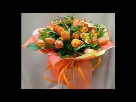 Букеты тюльпанов  16