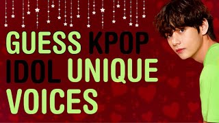KPOP GAMES | GUESS KPOP IDOL UNIQUE VOICES