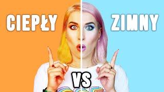 ♦ CIEP�Y vs ZIMNY - pół twarzy challenge! ♦ Agnieszka Grzelak Beauty