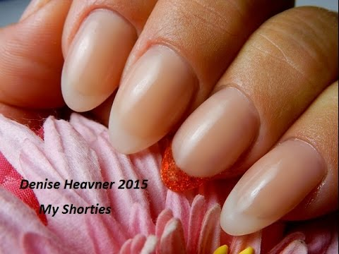 Pink and White Gel nail ---Soft Look -------Short----*ALMONOVAL ...