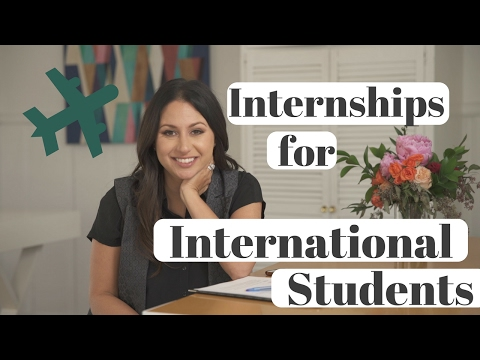 How to Get an Internship as an International Student! | The