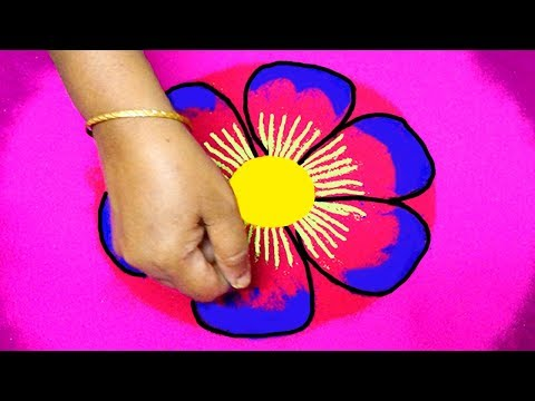 simple and easy rangoli designs with colours for pongal 2018 - kolam designs - latest muggulu
