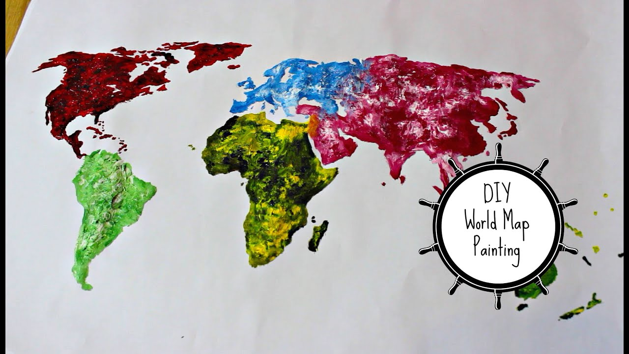 Diy world map painting thoserosiedays youtube gumiabroncs Gallery