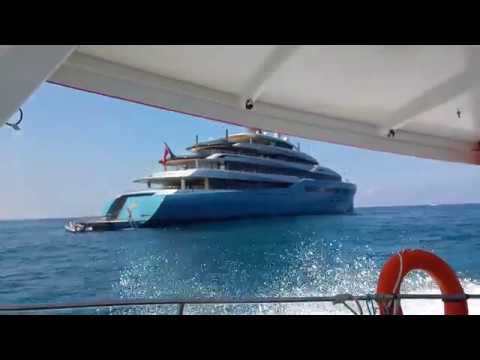 Aviva $150 Million Dollar Mega Yacht Visits Israel - Herzliya, Israel - June 16, 2017 - UHD