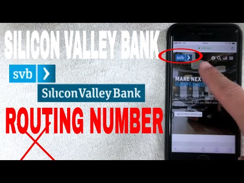✅  Silicon Valley Bank ABA Routing Number - Where Is It? 🔴