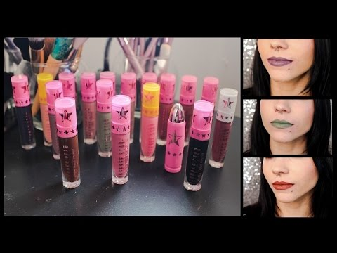 Jeffree Star Cosmetics | Velour Liquid Lipstick Swatches | UPDATED!