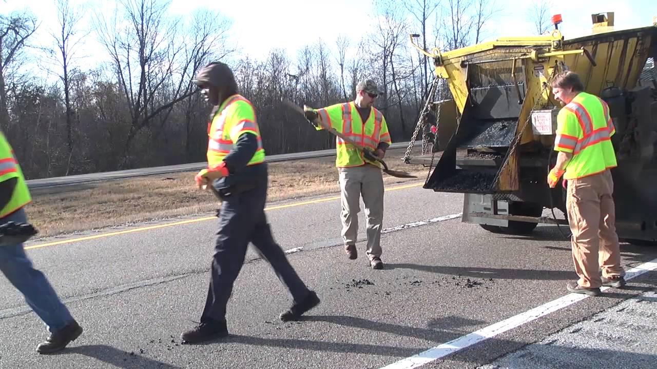 TDOT Crews Patching Potholes