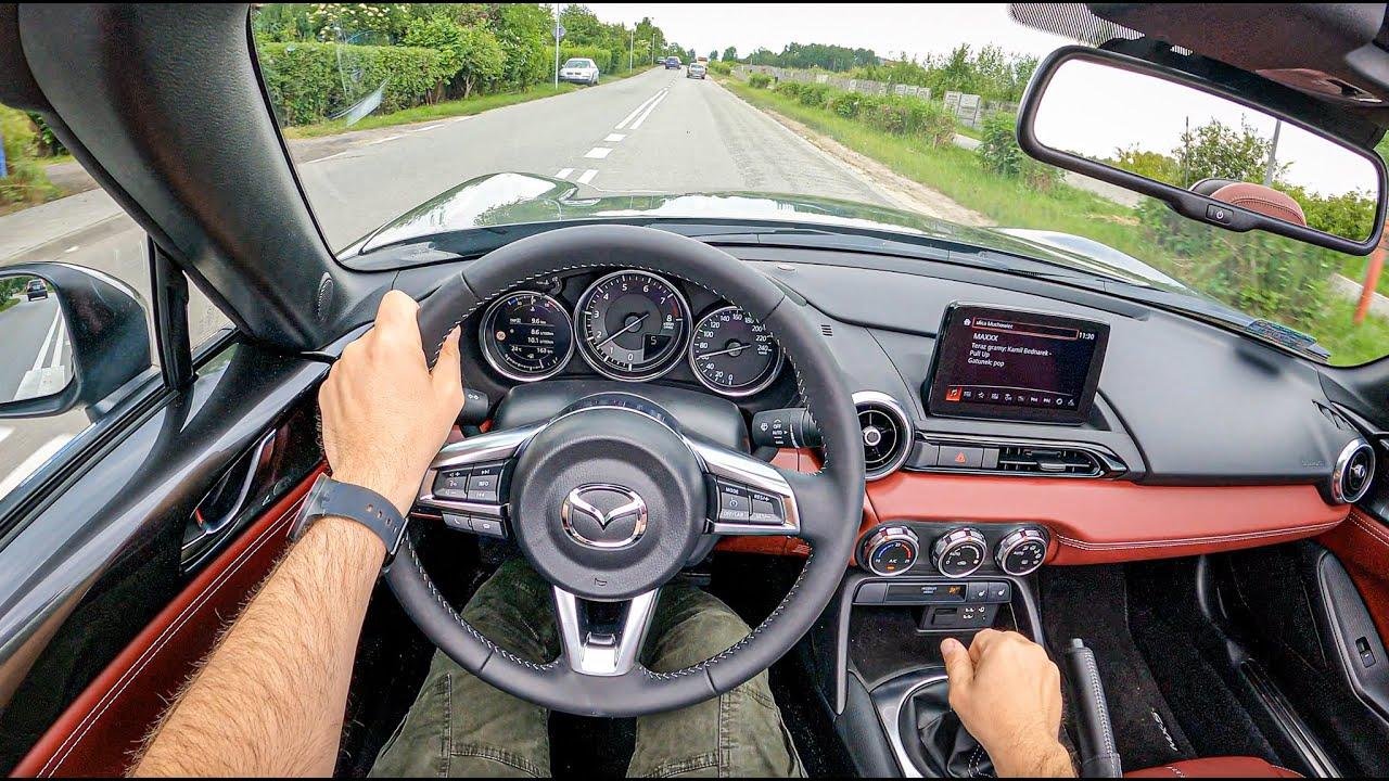 2021 Mazda MX-5 [2.0 SKY-G 184 HP]   POV Test Drive #806 Joe Black