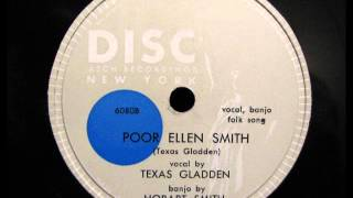 POOR ELLEN SMITH by Texas Gladden with her brother Hobart Smith banjo