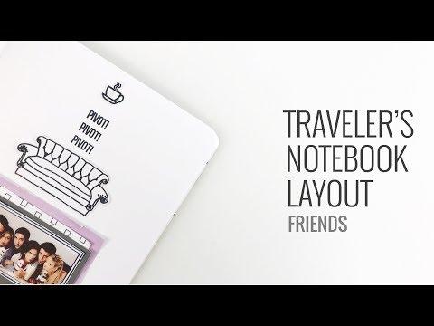 Traveler's Notebook Layout | Friends