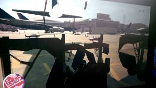 Stuck in the landing wheels of a plane  in gta