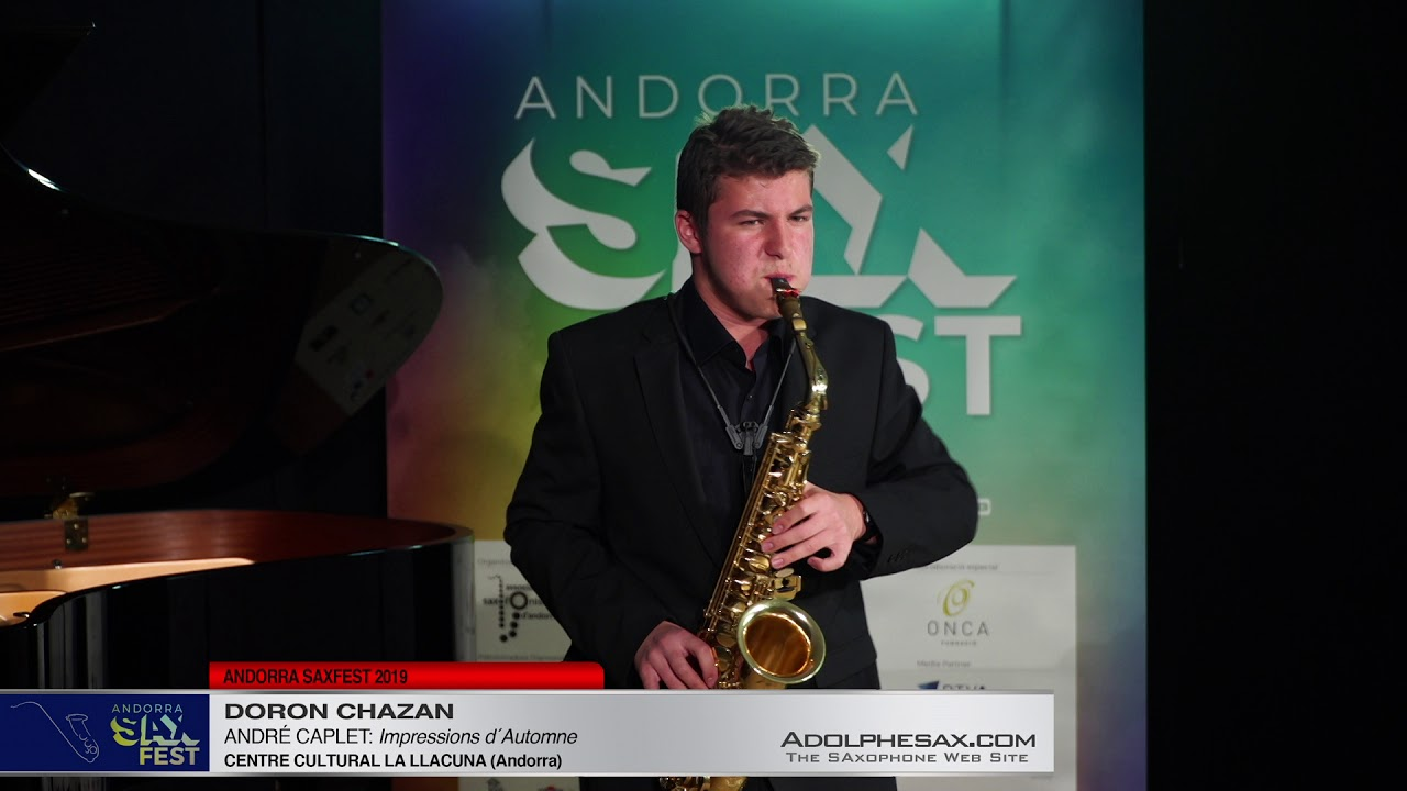 Andorra SaxFest 2019 1st Round   Doron Chazan   Impressions d´Automne by Andre Caplet