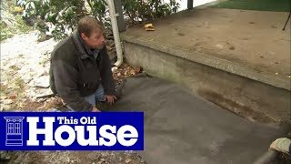 How To Build Granite Porch Stairs - This Old House