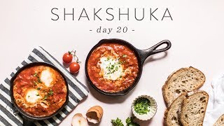 Quick & Healthy SHAKSHUKA - Eggs in Tomato Sauce Recipe 🐝 DAY 20