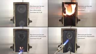 Test antincendio: membrana non infiammabile per facciate Stamisol Safe One