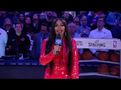 Ashanti Performs National Anthem (Madison Square Garden)
