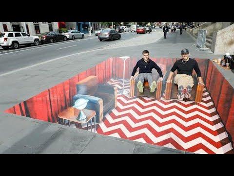 Best street art 3d painting