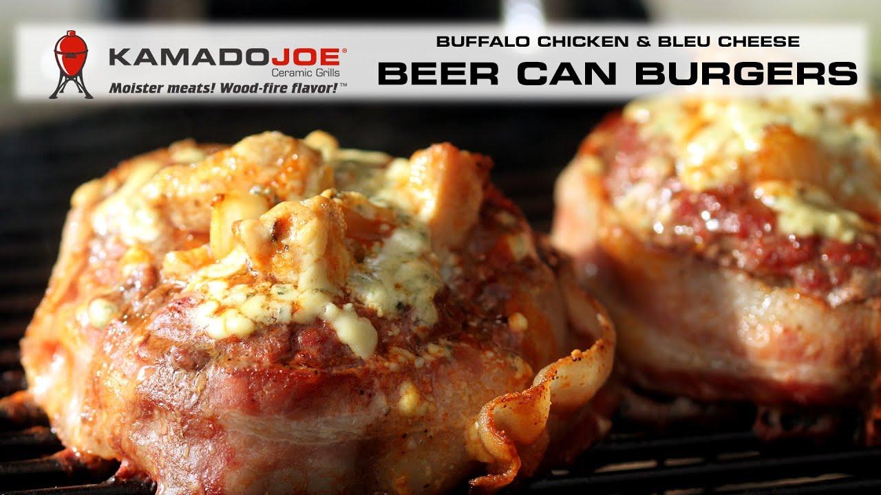 Kamado Joe Buffalo Chicken Beer Can Burgers Youtube