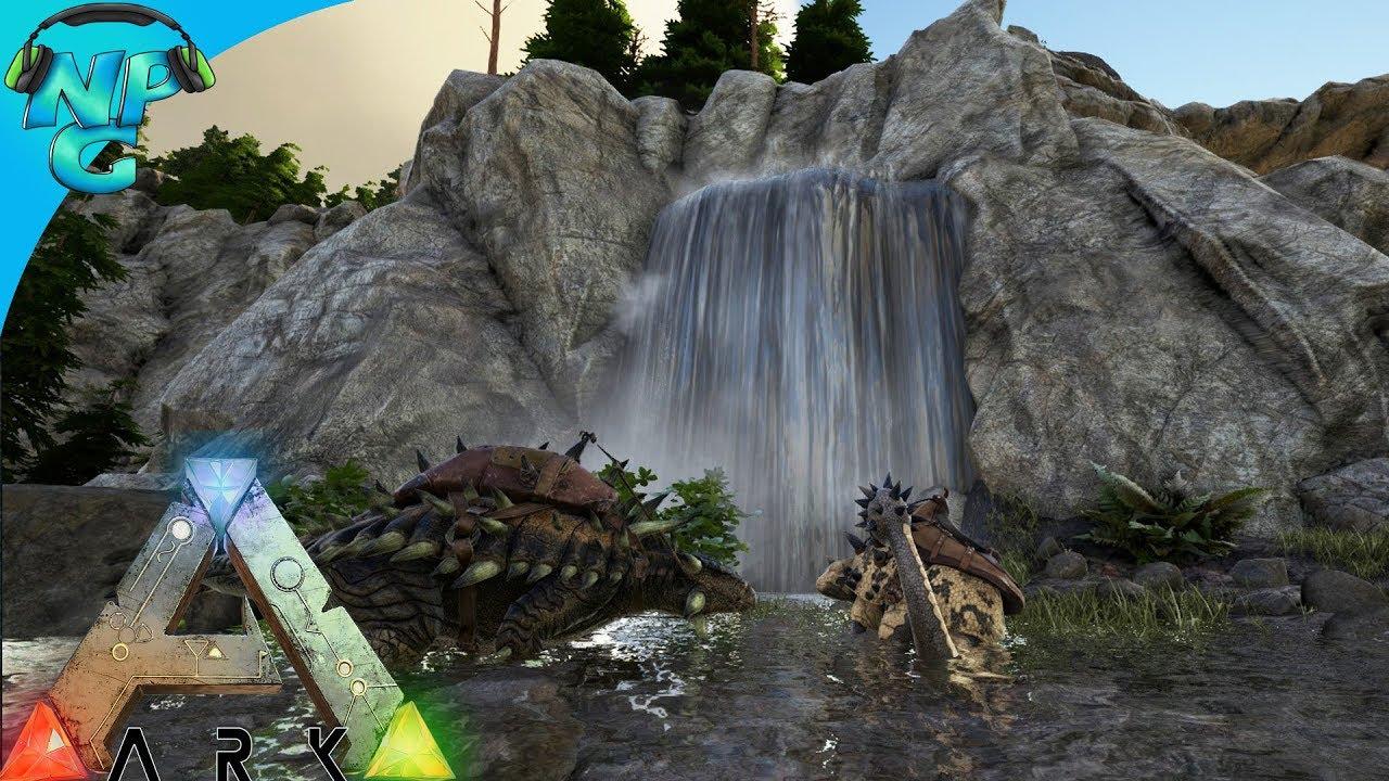World War ARK - 2 Men 1 Base Raid the Hidden Waterfall Cave