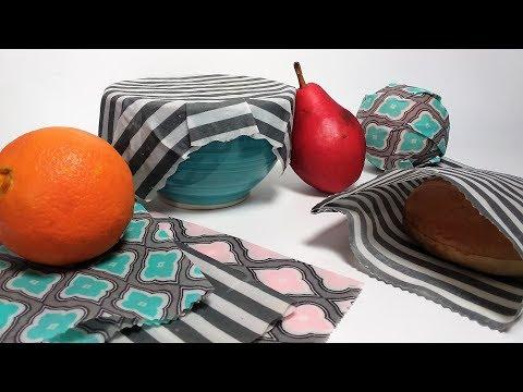 DIY Waxed Fabric Wraps // Eco Craft