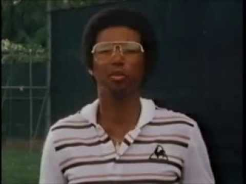 ARTHUR ASHE great backhand lesson