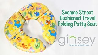 Sesame Street Cushioned Travel Folding Potty Seat