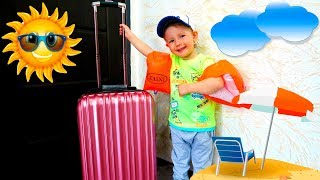 Baby Andrey collects a suitcase and goes to the sea