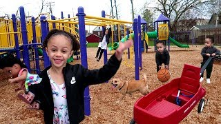 Kids Fun Playtime At The Playground With Imani And Family!