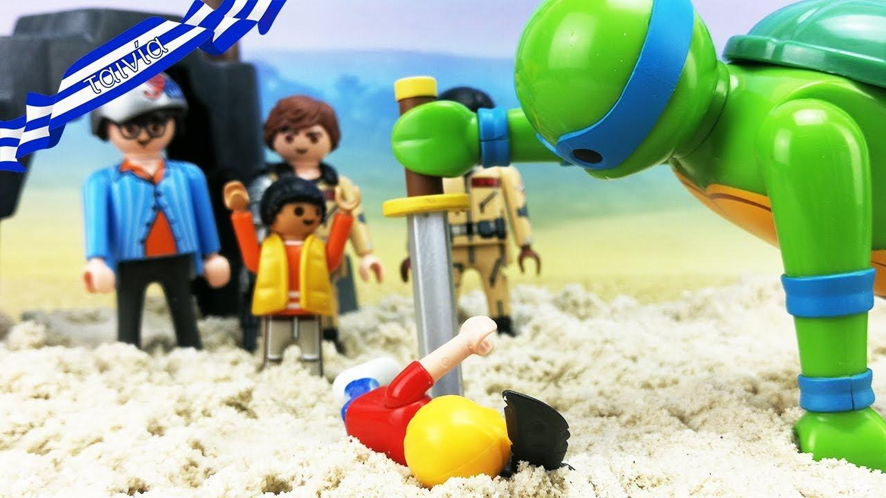 Playmobil ταινία ελληνικά επεισόδια - Ghostbusters ενάντια στην τεράστια πράσινη χελώνα!