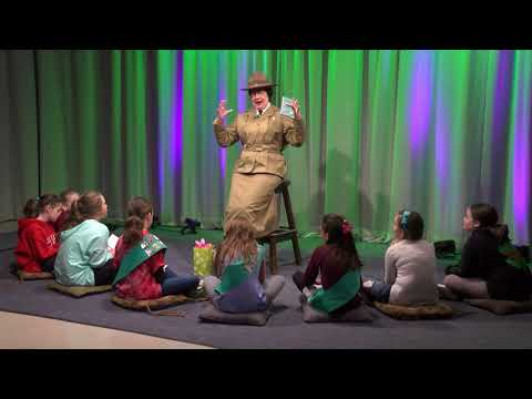 Girl Scout Founder Juliette Gordon Low visits Wakefield