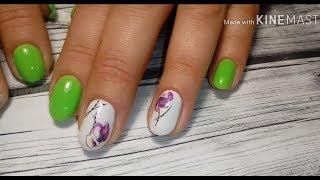 Яркий летний дизайн ногтей, ОТ и ДО. Работа на клиенте.
