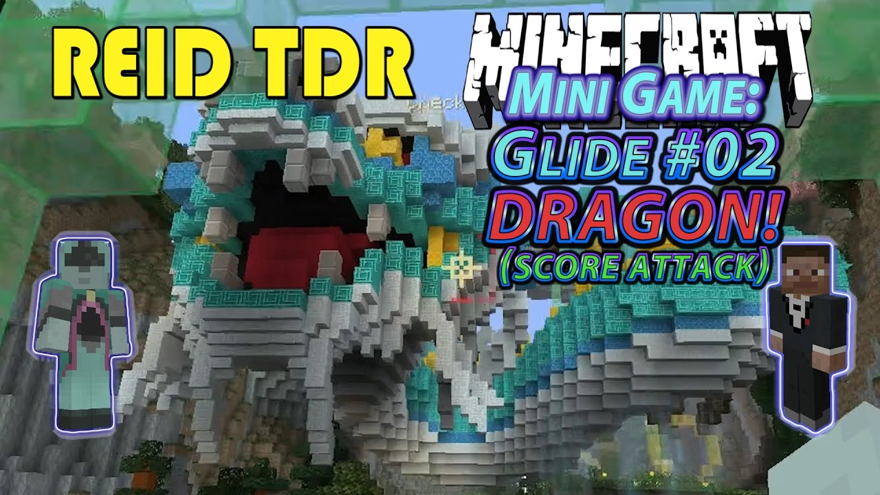 Minecraft GLIDE DRAGON MAP MINIGAME ReidTDR Dad Son - Map videos for kids