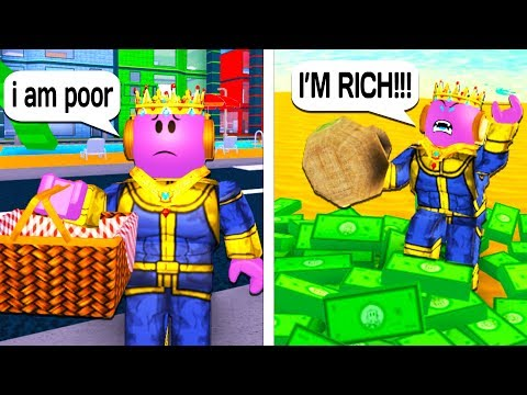 THANOS POOR TO RICH! A Sad Roblox Story