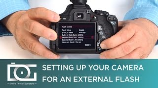 TUTORIAL | Camera Set Up for External Speedlite Flashes for CANON DSLRs | Video(Visit our website for more camera accessories: http://bit.ly/1SPLZkM Check out this video to learn more about how to set up an external flash for most of the ..., 2015-06-26T19:00:06.000Z)