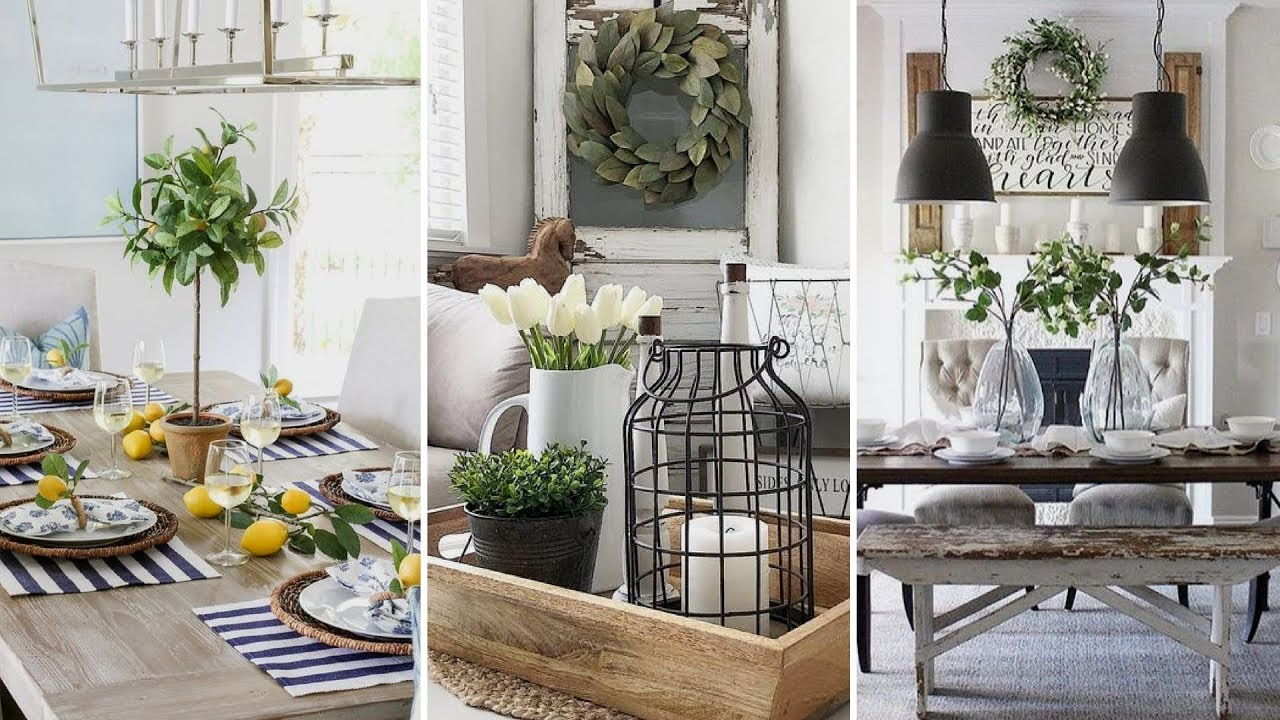 DIY Farmhouse style dining room centerpieces Ideas