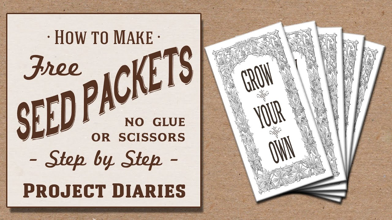How To Make Free Seed Packets No Scissors Or Glue Needed YouTube - Seed packet template