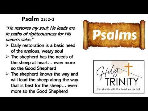 Bible Study on the Book of Psalms: Songs of the heart: session 7