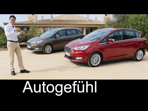 2016 Ford C-MAX vs Grand C-MAX new Facelift MPV FULL REVIEW test driven - Autogefühl