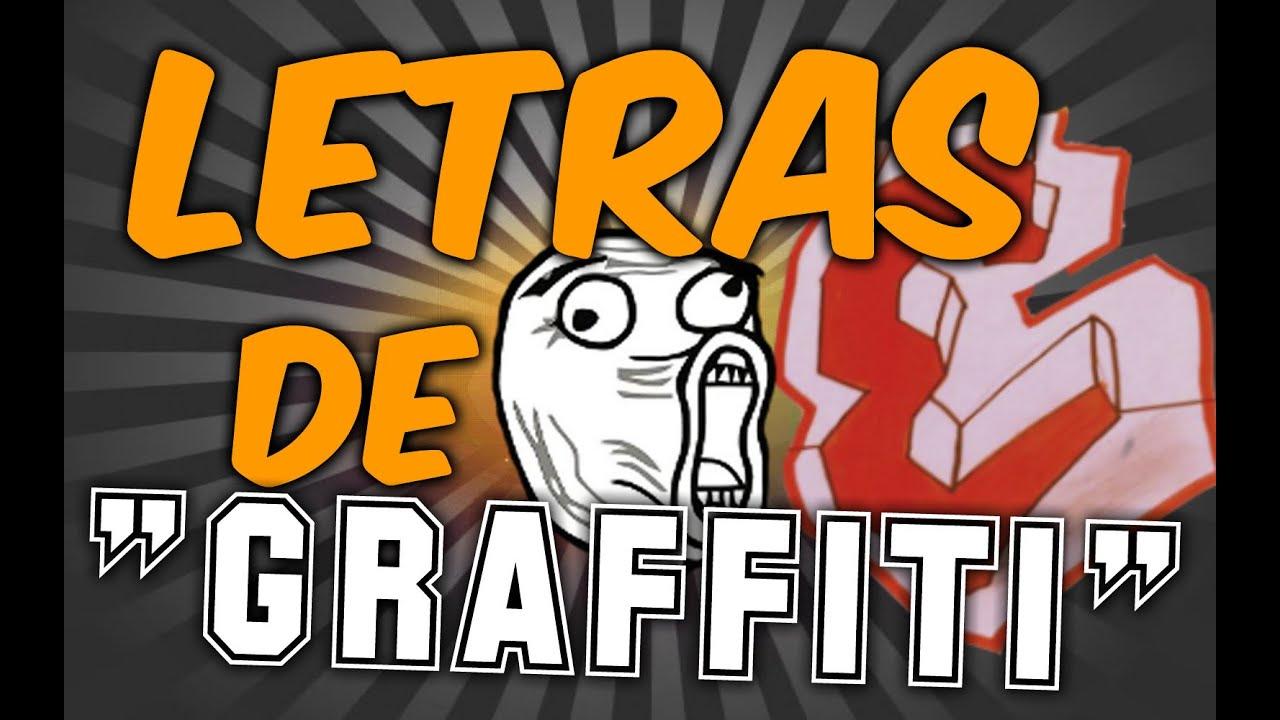 CMO DIBUJAR LETRAS DE GRAFFITI  E  YouTube