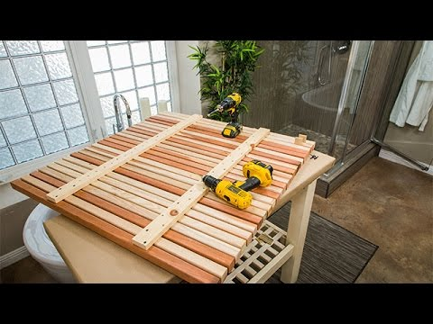 How To - Ken Wingard's DIY Wooden Slat Floor - Hallmark Channel