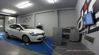 Renault Clio 4 1.5 dci 75cv Reprogrammation Moteur @ 113cv Digiservices Paris 77 Dyno
