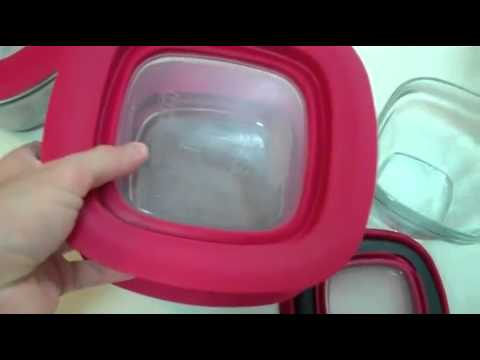 Rubbermaid 8 Piece Glass Food Storage Container Set with Easy Find