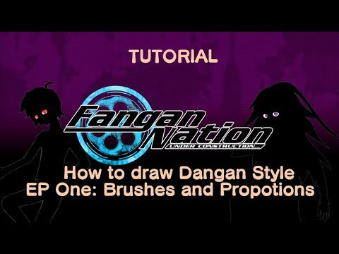 Tutorial: How do Draw Danganronpa Style! Episode 1: Brushes and Proportions