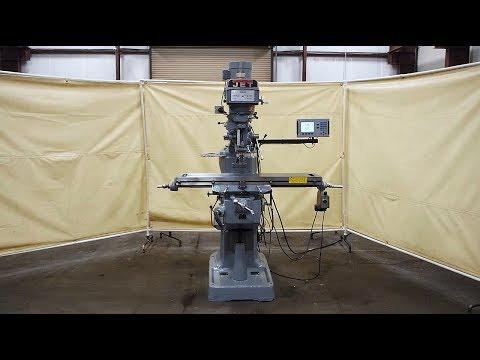 """JET 3 HP 12"""" x 49"""" Vertical Mill Model JTM-4VS"""
