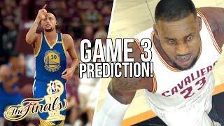 CAVS vs WARRIORS GAME 3 2K17 PREDICTIONS! NBA Finals 2K17 GAME 3 SIMULATION!