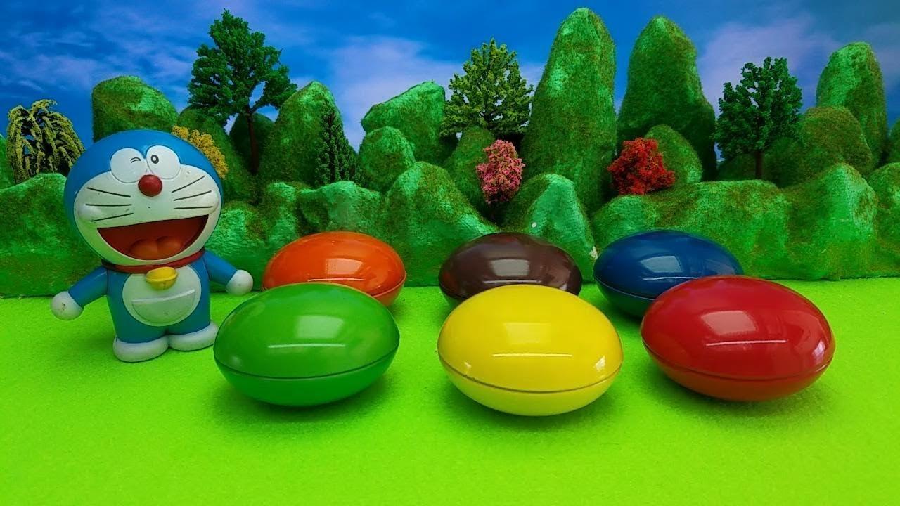 【童趣玩具总动员】哆啦A夢機器貓叮當拆五彩奇趣蛋玩具蛋