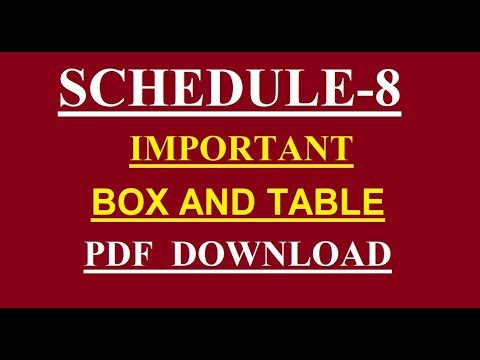 8TH SCHEDULE BOX AND TABLE-PDF DOWNLOAD