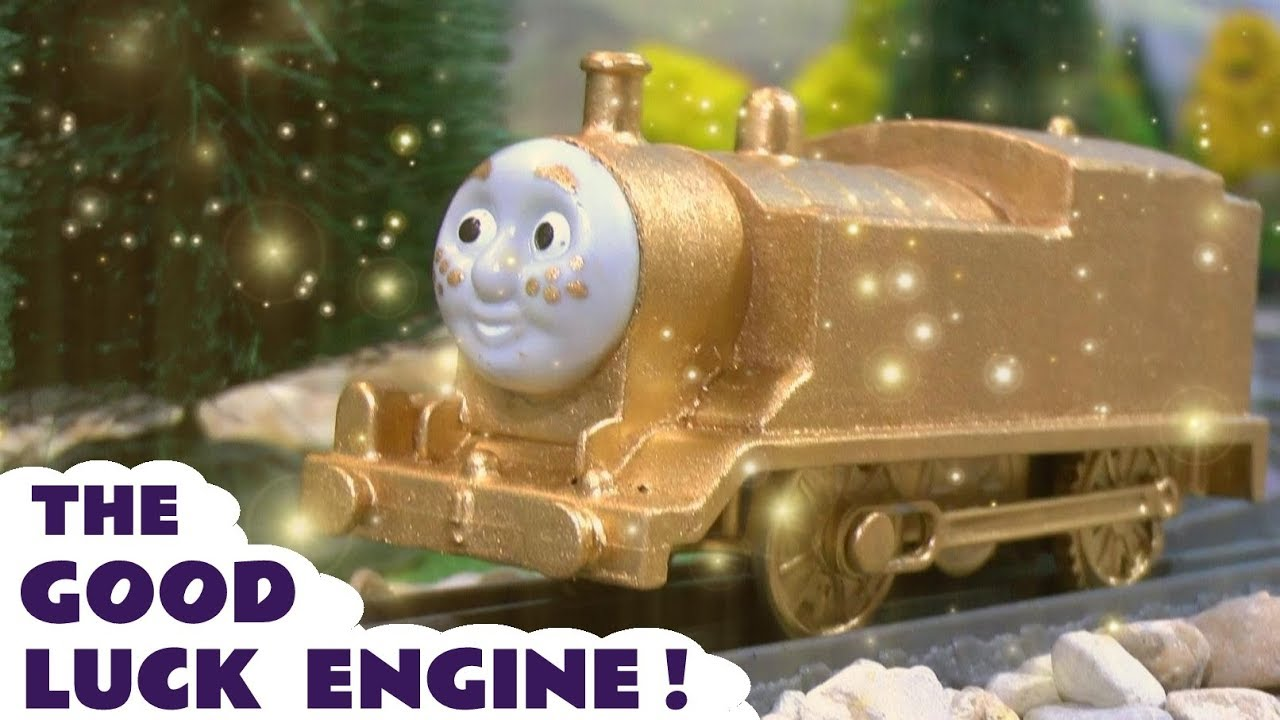 Thomas and Friends new train - The Good Luck Engine toy train story ...