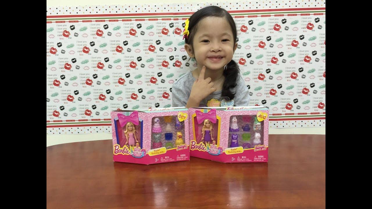 Búp bê Barbie tí hon và phụ kiện quần áo bằng nhựa   Barbie Birthday series – Barbie mini dolls